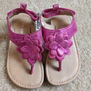 Carter's baby sandals pink